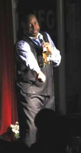 Darren DS Sanders performd Stand-up Comedy