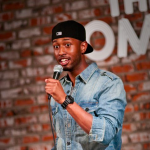 James Davis performing stand-up